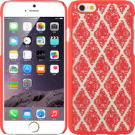 Skew Lace Transparent Case for iPhone 6 - Hot Pink