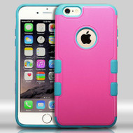Military Grade Certified TUFF Merge Hybrid Case for iPhone 6 Plus / 6S Plus - Hot Pink Teal