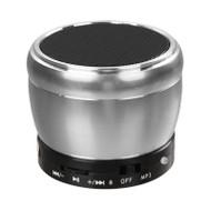 Mobile Bluetooth Wireless Speaker with Hands-Free Speakerphone - Silver