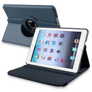 *SALE* 360 Degree Smart Rotary Leather Case for iPad Air 2 - Navy Blue