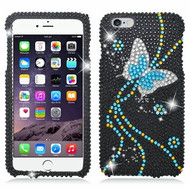 *Clearance* Diamante Rhinestone Case for iPhone 6 Plus - Blue Butterfly