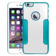 Aluminum Alloy Hybrid Armor Case for iPhone 6 Plus / 6S Plus - Silver Blue