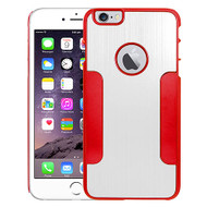 Aluminum Alloy Hybrid Armor Case for iPhone 6 Plus / 6S Plus - Silver Red