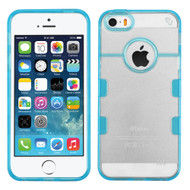 Co-Molded Impact Absorbing Case for iPhone SE / 5S / 5 - Clear Blue