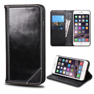 Mybat Genuine Leather Wallet Case for iPhone 6 Plus / 6S Plus - Black