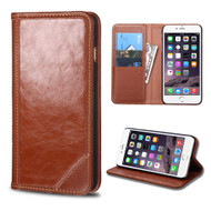 Mybat Genuine Leather Wallet Case for iPhone 6 Plus / 6S Plus - Brown