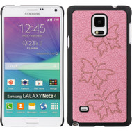 Aero Graphic Protective Case for Samsung Galaxy Note 4 - Butterfly Pink