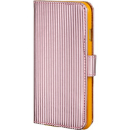 Metallic Portfolio Wallet Case for iPhone 6 / 6S - Pink