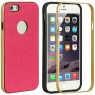 Pirate Leather BumperShield Protective Case for iPhone 6 - Hot Pink