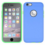 3-IN-1 Hybrid Case with Integrated Screen Protector for iPhone 6 Plus / 6S Plus - Blue Green