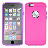 3-IN-1 Hybrid Case with Integrated Screen Protector for iPhone 6 Plus / 6S Plus - Hot Pink Purple