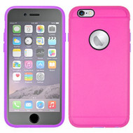 3-IN-1 Hybrid Case with Integrated Screen Protector for iPhone 6 / 6S - Hot Pink Purple