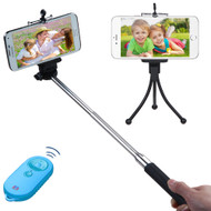 Selfie Stick Wireless Remote Control Shutter Bundle Kit - Blue Teal
