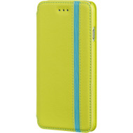 Business Leather Wallet Case for iPhone 6 / 6S - Green Blue