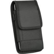 *SALE* Ballistic Nylon Vertical Hip Pouch Case with Carabiner Clip - Black