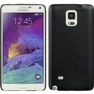 Slim Leather Shell Case for Samsung Galaxy Note 4 - Black