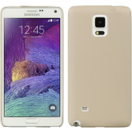 Slim Leather Shell Case for Samsung Galaxy Note 4 - Beige