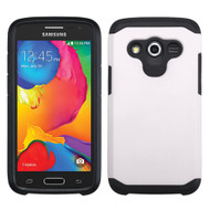 Hybrid Multi-Layer Armor Case for Samsung Galaxy Avant - White