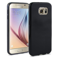 Rubberized Crystal Case for Samsung Galaxy S6 - Black