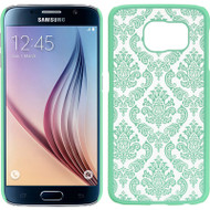 Lace Transparent Case for Samsung Galaxy S6 - Teal