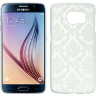 Lace Transparent Case for Samsung Galaxy S6 - White