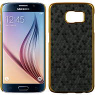 Electroplating Chrome Cover for Samsung Galaxy S6 - Honeycomb Black