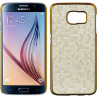 Electroplating Chrome Cover for Samsung Galaxy S6 - Honeycomb White