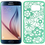 Flower Transparent Case for Samsung Galaxy S6 - Teal