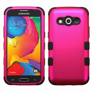 Military Grade Certified TUFF Hybrid Case for Samsung Galaxy Avant - Hot Pink