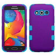 Military Grade TUFF Hybrid Case for Samsung Galaxy Avant - Purple Teal