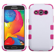 *Sale* Military Grade TUFF Hybrid Case for Samsung Galaxy Avant - White Hot Pink