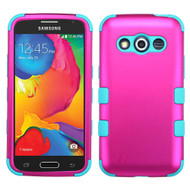 Military Grade TUFF Hybrid Case for Samsung Galaxy Avant - Hot Pink Teal