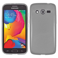 Rubberized Crystal Case for Samsung Galaxy Avant - Smoke