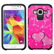 Hybrid Multi-Layer Armor Case for Samsung Galaxy Core Prime / Prevail LTE - Glittering Butterfly