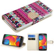 Art Design Portfolio Leather Wallet for Samsung Galaxy Avant - Tribe Impression