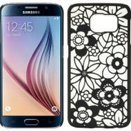 Flower Transparent Case for Samsung Galaxy S6 - Black