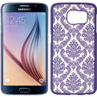 Lace Transparent Case for Samsung Galaxy S6 - Purple