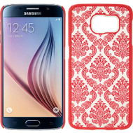Lace Transparent Case for Samsung Galaxy S6 - Hot Pink