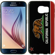 Graphic Rubberized Protective Gel Case for Samsung Galaxy S6 - California Black