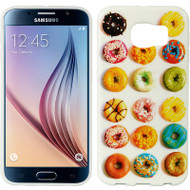 Graphic Rubberized Protective Gel Case for Samsung Galaxy S6 - Donuts