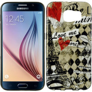 Graphic Rubberized Protective Gel Case for Samsung Galaxy S6 - Paris Amour