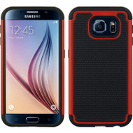 TotalDefense Hybrid Case for Samsung Galaxy S6 - Red