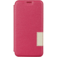 Leather Flip Hybrid Wallet Case for Samsung Galaxy S6 - Hot Pink
