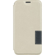 Leather Flip Hybrid Wallet Case for Samsung Galaxy S6 - White