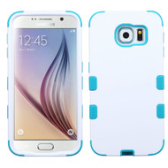 Military Grade Certified TUFF Hybrid Case for Samsung Galaxy S6 - White Teal