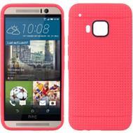 *Sale* Perforated TPU Case for HTC One M9 - Hot Pink