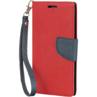 Leather Wallet Shell Case for Samsung Galaxy S6 - Red
