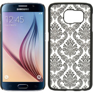 Lace Transparent Case for Samsung Galaxy S6 - Black