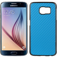 Electroplating Chrome Cover for Samsung Galaxy S6 - Carbon Fiber Blue