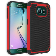 TotalDefense Hybrid Case for Samsung Galaxy S6 Edge - Red